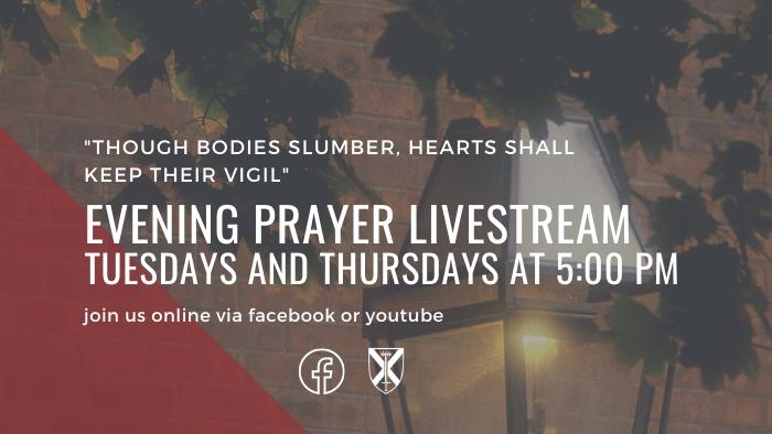 Evening prayer livestream 2021